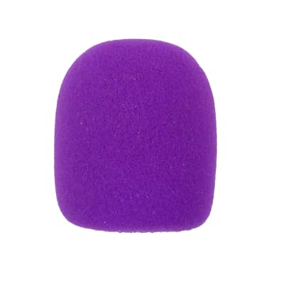 Microphone Windscreen - Purple Colored - Fits Shure SM58, Beta 58A & Similar - Vocal Mic Cover New