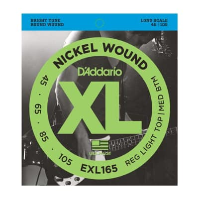 NEW D'Addario EXL165 Nickel Wound Bass Strings - Light Top/Medium Bottom - .045-.1105