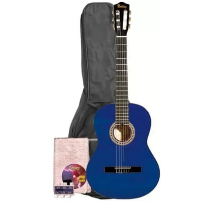 Monterey Classical Guitar Blue Full Size 4/4 Nylon MC-139BL for sale
