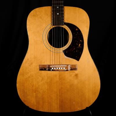 Vinatge Harptone E-6NC Acoustic Guitar Natural With HSC for sale