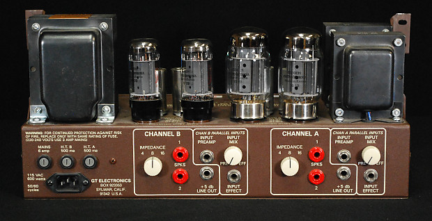 Image result for groove tubes dual 75 selectable stereo tube amplifier