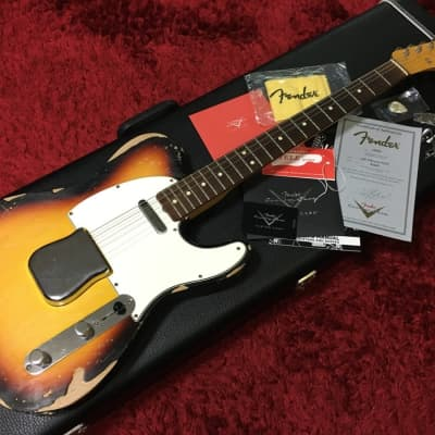 Fender Custom Shop Telecaster RELIC 1963 NOS Mike Eldred 2010 Sunburst w/HC Used in Japan Discount for sale