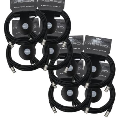 XSPRO XSPDMX3P25 3 Pin DMX Light Cable 25' - 8PAK image
