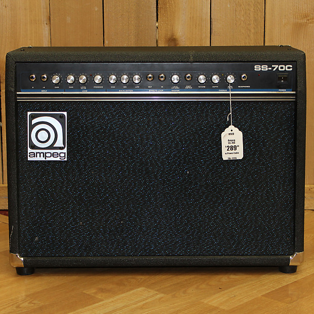 ampeg ss 70c 70 watt 2x10 solid state guitar combo reverb. Black Bedroom Furniture Sets. Home Design Ideas