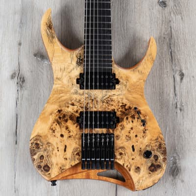 Mayones Hydra Elite 7 Guitar, 7-String, Ebony Fretboard, Natural Satin