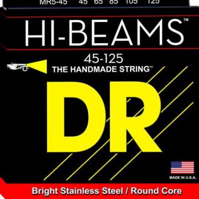 DR Strings MR545 Hi Beam 5-String Electric Bass Guitar Strings 45-125