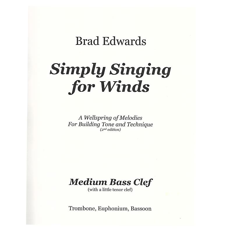 Edwards: Simply Singing for Winds, Medium Bass Clef