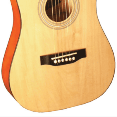 Indiana I-34-N Runt Series Mini- 34-Inch Dreadnought Spruce Top 6-String Acoustic Guitar