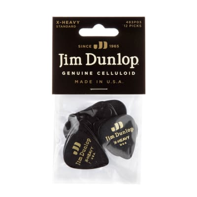 Dunlop 483P03XH Celluloid Extra Heavy Guitar Picks (12-Pack)