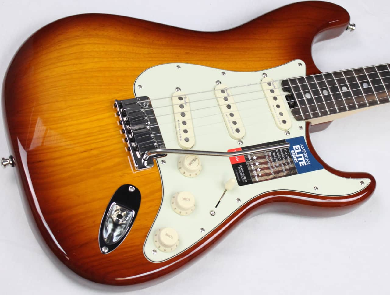 fender american elite stratocaster w hsc tobacco sunburst reverb. Black Bedroom Furniture Sets. Home Design Ideas