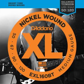 D'Addario EXL160BT Nickel Wound Bass Guitar Strings Balanced Tension Medium 50-120
