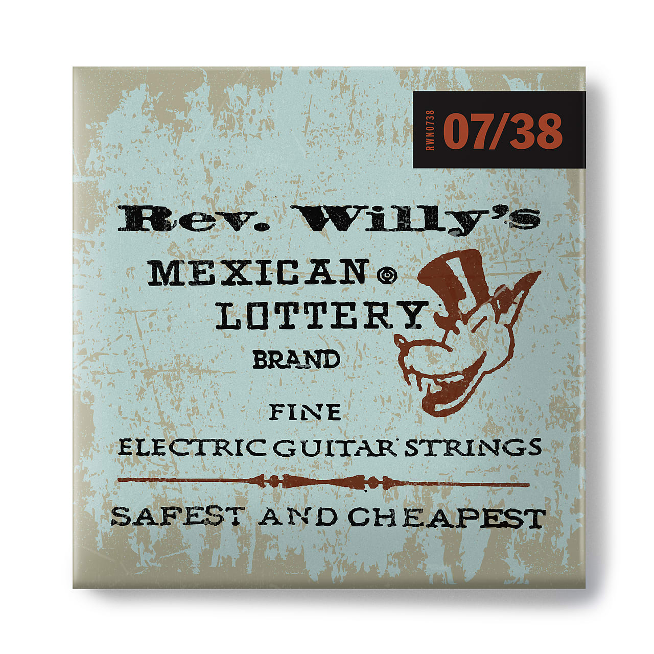Dunlop Rev. Willy's Mexican Lottery Brand 7 Gauge Electric Guitar Strings 7-38