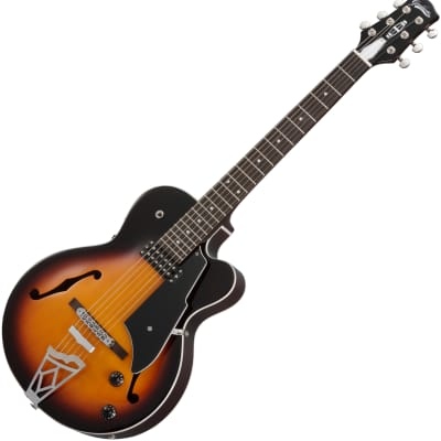 Vox Giulietta VGA-3D Small Body Archtop Acoustic/Electric Guitar - Sunburst