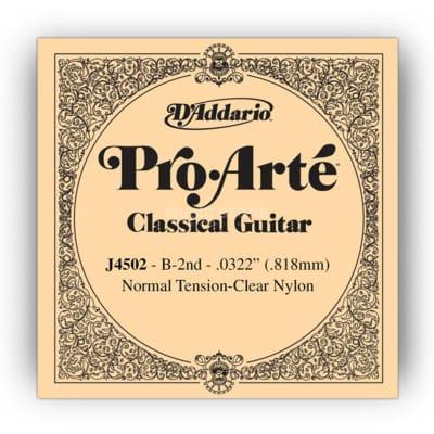 D'Addario Pro Arte 2nd Nylon Single String .0322 J4502