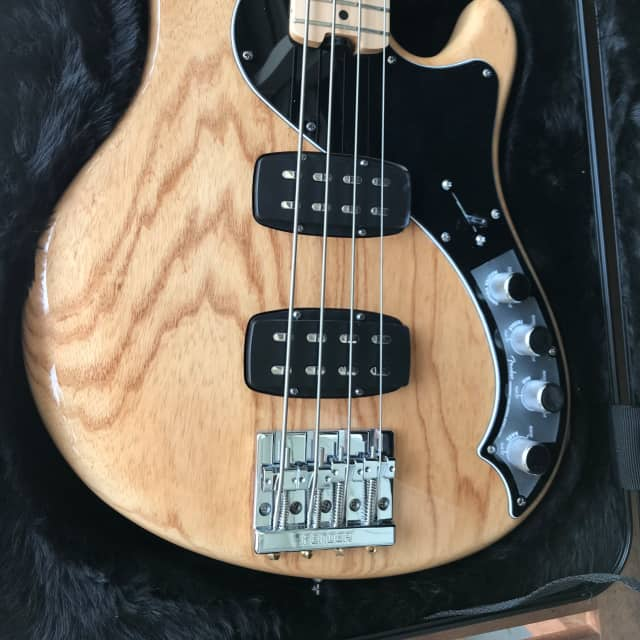 Fender American Deluxe Dimension Bass IV HH 2014 Natural image