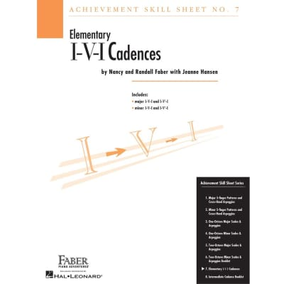 Achievement Skill Sheet No. 7: Elementary I-V-I Cadences