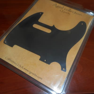 Q-Parts Aged Collection '57 Vintage Tele Pickguard - MATTE BLACK for sale