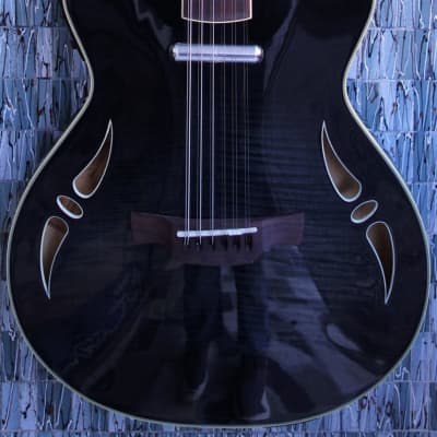 Crafter Slim Arch 12 String Guitar, Tiger Maple Black for sale