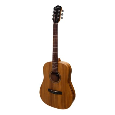 Martinez Acoustic-Electric Middy Traveller Guitar (Koa) for sale