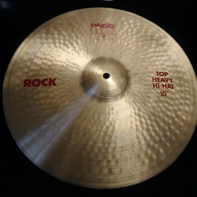 """Paiste 15"""" 2002 Red Label / ROCK  Heavy Hi Hat  { Top Only }"""