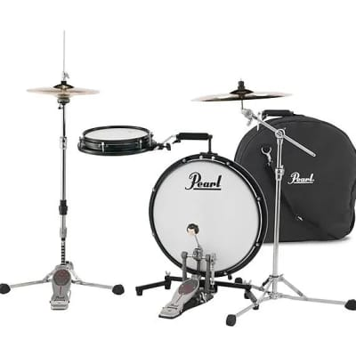 """Pearl PCTK1810BG Compact Traveler 10 / 18"""" 2pc Portable Drum Set with Bag"""