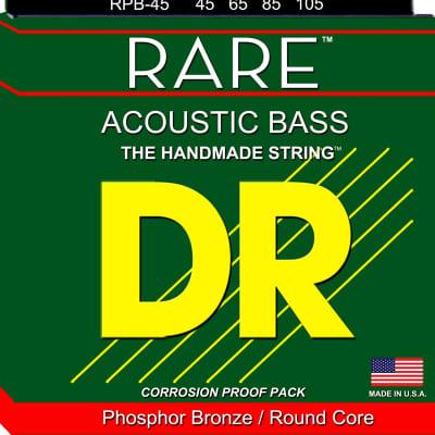 DR RPB-45 Rare Phosphor Bronze Acoustic Bass Guitar Strings - Medium (45-105)