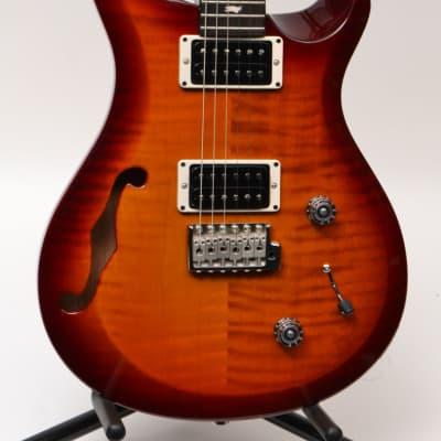 PRS S2 Custom 22 Semi-Hollow Electric Guitar Dark Cherry Sunburst W/ GIG BAG