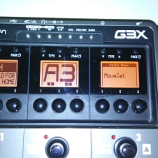 Zoom G3x Multi-effects pedal 2012? Silver and Black