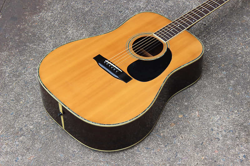 1980 Morris W-35 Vintage Acoustic Martin-Style Guitar - Made in Japan