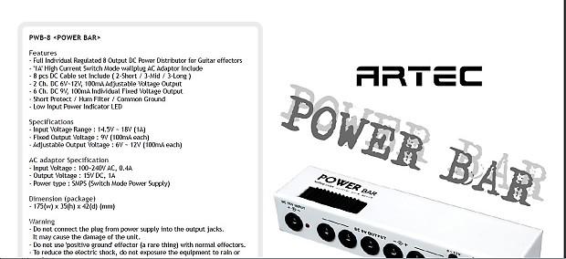 artec  u0026quot power bar u0026quot  effect power supply