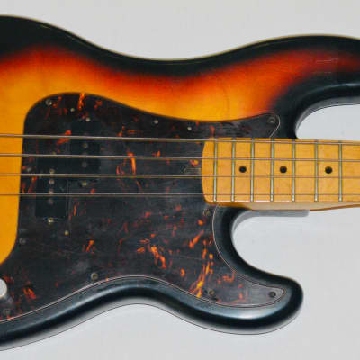 Matsumoku Precision Bass Lawsuit Chaser Heit Japan Greco Guyatone 1970 Sunburst for sale