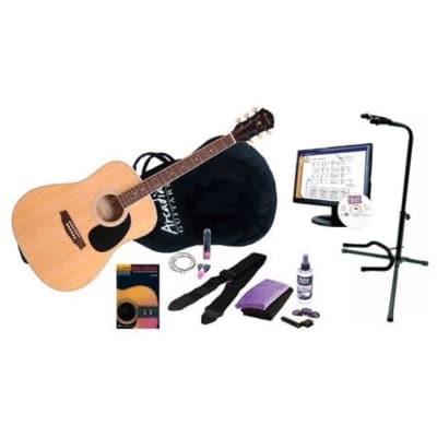 Arcadia DL41 Premium Acoustic Guitar Package, Natural for sale