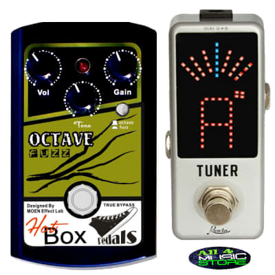 Hot Box Pedals HB-OF OCTAVE and FUZZ Analog Guitar/Bass Effect Pedal True Bypass Ships Free