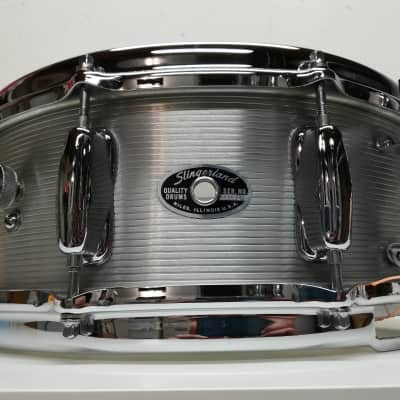 "Slingerland No. 140 Student Model 5x14"" 10-Lug Ribbed Aluminum Snare Drum 1960s - 1970s"