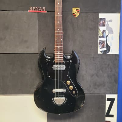 PAN SG Style Guitar 1970's black Single Mini humbucker Japan Matsumoku for sale