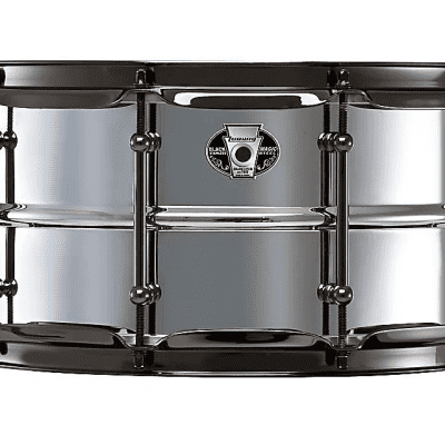 """Ludwig LW6514S Black Magic Stainless Steel 6.5x14"""" Snare Drum"""