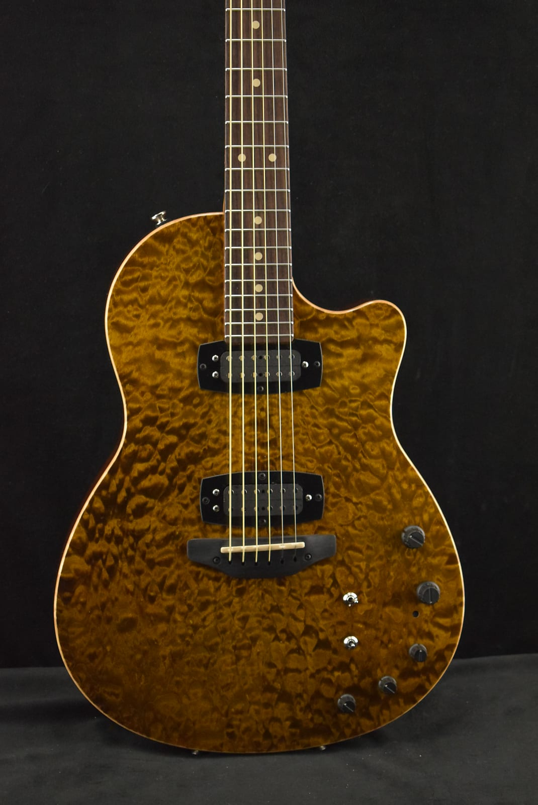 Tom Anderson Crowdster Plus 2 Tiger Eye w/Binding