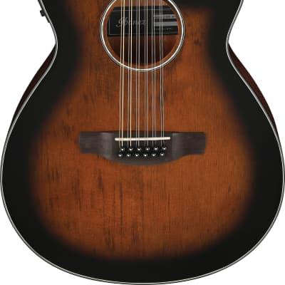 Ibanez 12 String Acoustic Electric Guitar AEG5012DVH Dark Violin Sunburst