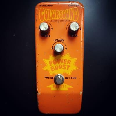 Vintage 1970 Colorsound Power Boost Fuzz Pedal. David Gilmour 18v Classic. Overdriver Precursor. for sale