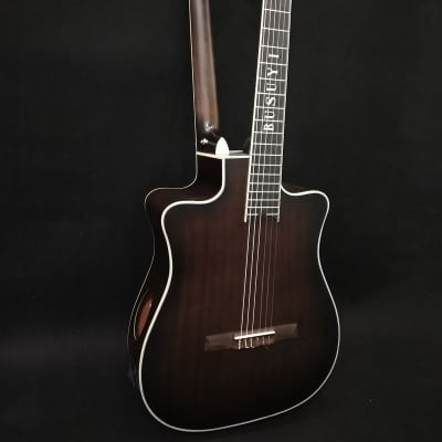 6 Strings Classical/ 6 Strings Acoustic Double Neck,Double Sided Busuyi Guitar NPS66 2020.