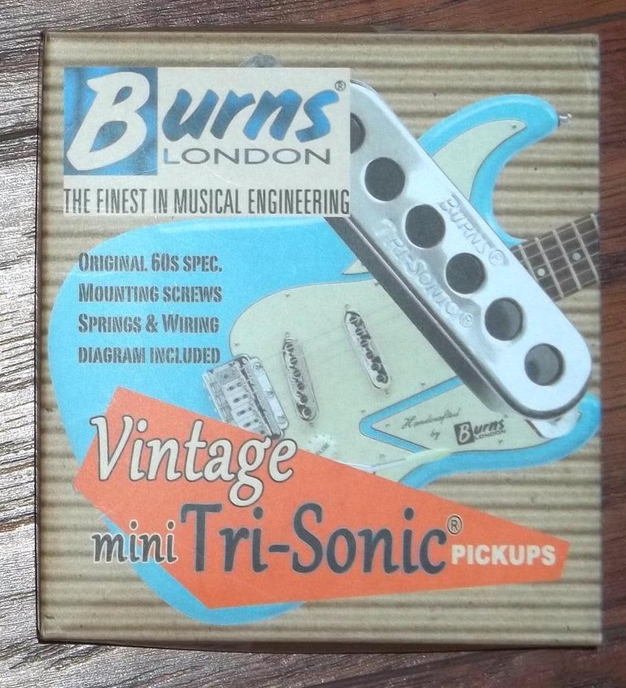 Burns® London Vintage Mini Tri-Sonic® Pickup Set~Chrome~Fits | Reverb