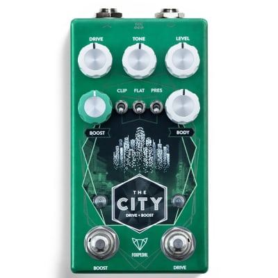 Foxpedal The City V2 TS-Style Overdrive Guitar Effects Pedal