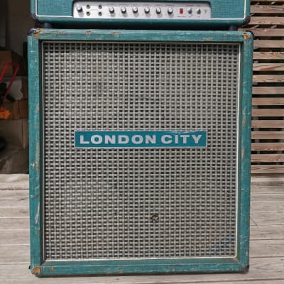 London City Cabinet  1971 Turquoise green for sale