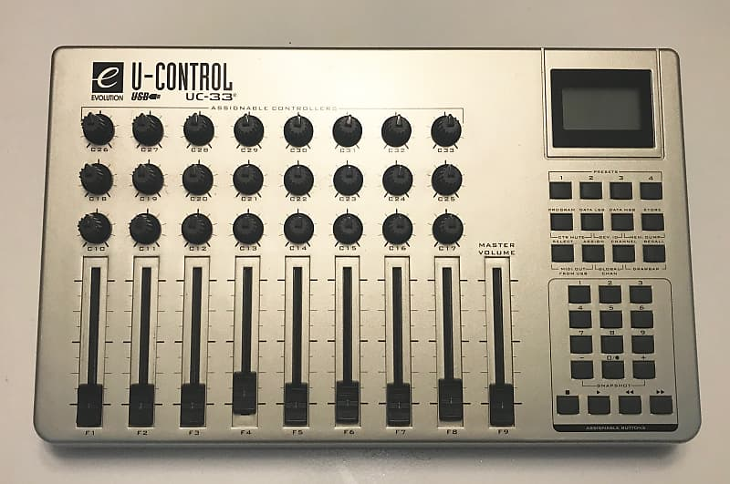 evolution uc 33 e midi controller reverb. Black Bedroom Furniture Sets. Home Design Ideas