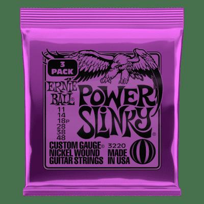 Ernie Ball Power Slinky Nickel Wound Electric Guitar Strings 3 Pack - 11-48 Gauge