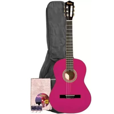 Monterey Classical Guitar Pink Full Size 4/4 Nylon MC-139PK for sale