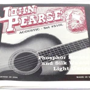 John Pearse Guitar Strings Acoustic Silk Wound Phos Bronze #510L
