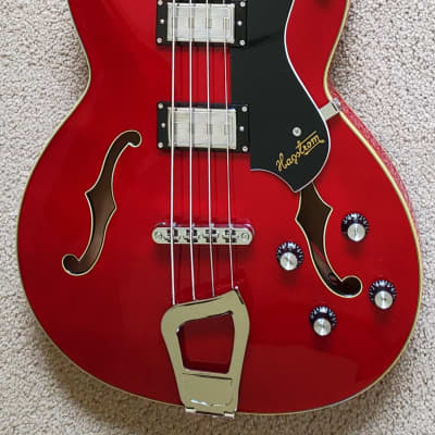 Hagstrom Viking Semi-Hollow Electric Bass Guitar, New Deluxe Padded Gig Bag