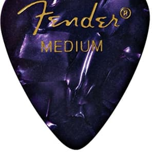 Fender 351 Premium Celluloid Guitar Picks - MEDIUM, PURPLE - 12-Pack (1 Dozen) for sale