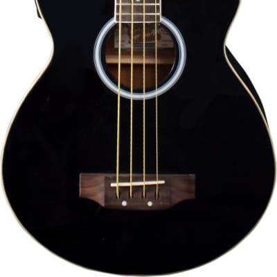 Oscar Schmidt by Washburn Acoustic/Electric Bass, Black, Gig Bag Included,OB100B for sale